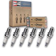 6 pc Champion 354 Copper Spark Plugs RC10DMC - Auto Pre Gapped Ignition bl