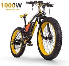 "ZLZNX Fat Tire Electric Bike Mountain Bike 26""E-Bike-Yellow"