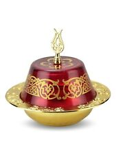 Turkish Handmade Authentic Sugar Bowl Glass and Casting