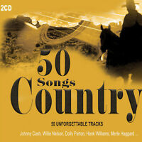 2CD 50 Canciones Country Johnny Cash Tex Ritter Dolly Parton Country Music