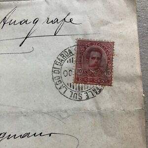 M) Lettera Regno annullo Servizio Postale sul Lago di Garda 1900 Maderno Gargnan