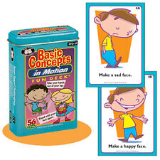 Basic Concepts in Motion Flash Cards Super Duper Fun Deck Follow Directions ESL
