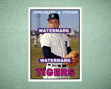 John Hiller Detroit Tigers 1967 Style Custom Baseball Art Card