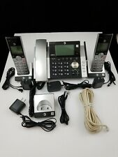 AT&T CL84365 Corded Phone with Two Handsets Answering System Caller ID
