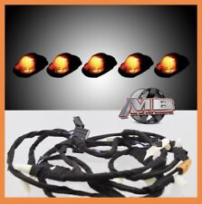 Smoked AMBER LED cab roof lights 5pc 17-18 Ford F250 F350 super duty with Wiring