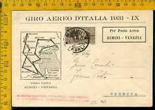 Regno posta aerea primo volo giro d' Italia 1931  le 099