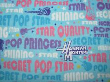 "12"" x 42"" GUITARS POP STAR PRINCESS* HANNAH MONTANA on COTTON FLANNEL BOLT END"