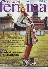 version Femina - bien public - novembre 2005 - valerie lemercier - mode tweed