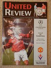 Manchester United v AC Fiorentina 15th mars 2000