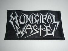 MUNICIPAL WASTE LOGO EMBROIDERED PATCH
