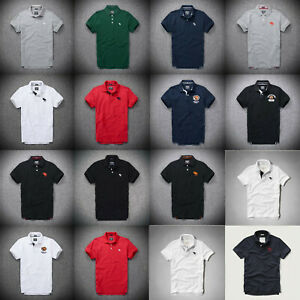 NEW Abercrombie & Fitch Men Muscle Fit Polo shirt AF by Hollister S M L XL XXL