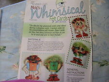 WHIMSICAL FELT CARDS & BACKPACK *RARE OOP whimsical cloth doll pattern 2009