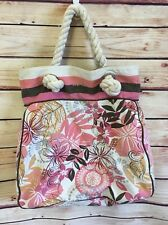 Aeropostale Cotton Canvas Tote Bag Handbag Beach Shop School Travel NICE!