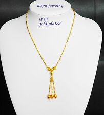22k Cadena Collar Enchapado En Oro Quilate Indio Asiático De Moda Joyería Elegante