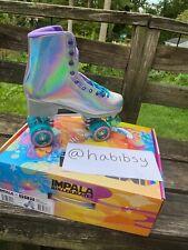 Impala Quad Roller Skates Vegan - Holographic Us Size 11 New In Hand (Free Ship)