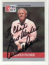 ARNOLD PALMER PERSONALIZED AUTOGRAPHED CARD DECEASED
