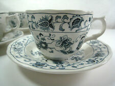 Blue Ming Tree China Ironstone 4 Cup and Saucer Sets Double Phoenix NIKKO