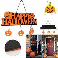 Halloween Pumpkin Outdoor Wall Door Doorplate Plaque Hanging Sign Haunted Decor