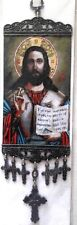 Jesus Protector  Home Amulet Carpet Wall Rugs 11 inches with croses