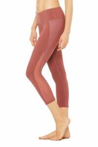 ALO Yoga Women's Nova Capri Legging in Blush Pink Size XSMALL