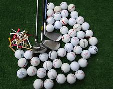3 Golfschläger + 50 Rangebälle + 50 Tees Linkshänder  Crossgolf , Golfbälle