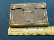 More details for rare victorian 1864 passport lord john russell named tooled leather case vgc