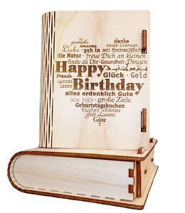 Geschenkbox aus Holz  Geburtstag