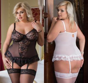 FOR CURVY GIRLS   Plus Size ✔ Sexy Negligee Dessous Babydoll ✔ XL-XXXL 46-56