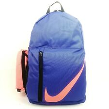 NIKE Elemental Young Athlete Backpack School Sports Bag PURPLE/PINK AU Stock !