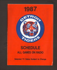 Detroit Tigers--1987 Pocket Schedule--Tigers Tickets