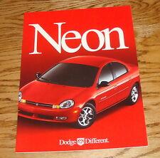 Original 2000 Dodge Neon Deluxe Sales Brochure 00