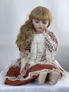 """Vintage Bru Jne 13 Real Seeley Body Bruj Ne 28"""" Tall Antique Porcelain Doll"""