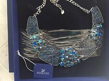 "Swarovski Necklace BLUE ""AMAZING"" ALL AROUND ITEM 5037442 NIB $410"
