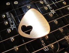 Love Bronze Guitar Pick in Bronze with Special Heart