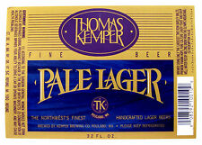 Thomas Kemper PALE LAGER beer label. WA 32oz