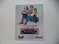 advertising Pubblicità 1982 AUTORADIO GRUNDIG WKC 2038