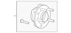 Genuine Ford Front Hub & Bearing 8F9Z-1104-C