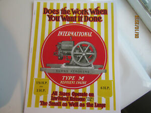 1920 Color International Harvester 1 1/2-6HP Kerosene Engine Mail Order Catalog