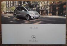 MERCEDES BENZ A CLASS 2001 UK Mkt Prestige Sales Brochure -A140  A160 A170 A190