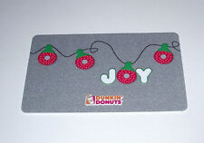 1 NEW DUNKIN DONUTS JOY CHRISTMAS LIGHTS GIFT CARD NO CASH VALVE GREAT GIFT CARD