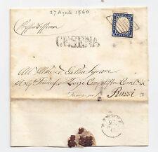 T762-ROMAGNE-CESENA GRIGLIA PONTIFICIA SU 20 CENT SARDEGNA 1860