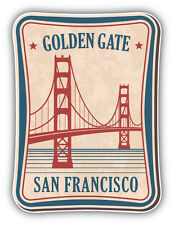 Golden Gate San Francisco Vintage Label Car Bumper Sticker Decal 4'' x 5''