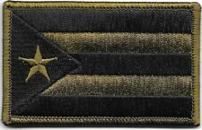 Puerto Rico Woodland Dark Green Black Flag Patch VELCRO® BRAND Fastener Compatib