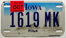 """USA  Nummernschild Motorrad aus Iowa """"POLK"""" County. S-4074"""