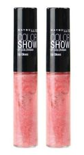 2 x MAYBELLINE 5mL COLOR SHOW LIP GLOSS 170 PRETTY PINK - NEW