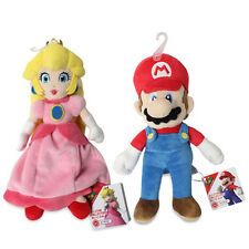 NEW Mario & Princess Peach Stuffed Plush (set of 2) All Star Collection by Sanei