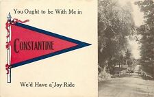 """A Joy Ride"" Car in Constantine Michigan~Ought To Be With Me~1914 Pennant PC"
