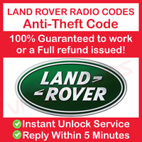 LAND ROVER RADIO CODE UNLOCK STEREO FREELANDER DISCOVERY DEFENDER