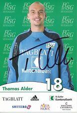 Thomas Alder   FC St.Gallen  Autogrammkarte signiert 297366