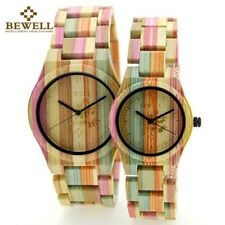 BEWELL Colorful Bamboo Watch Wood Grain Mens Watch Ladies Watches For Couples